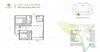 Thiết kế căn hộ 02 phòng ngủ chung cư Bình Minh Garden Đức Giang